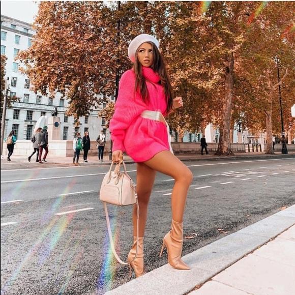 cb614bd5 Zara Sweaters | Last One Nwt Neon Turtleneck Sweater Dress | Poshmark